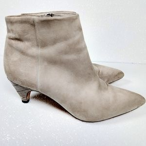 Sam Edelman suede pointy ankle booties 8.5